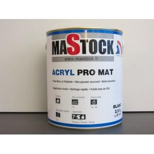 Peinture acrylique blanc mat - 2,5 L - Qualité professionnelle - Peinture fabriquée en France