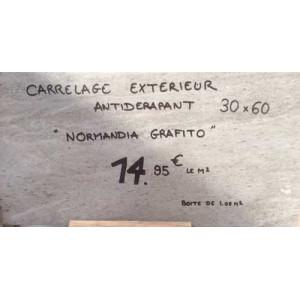 Carrelage Antidérapant - Normandia Grafito