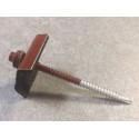 Fixations pour tôles bac acier - RAL 8012 - Mastock Montaigu