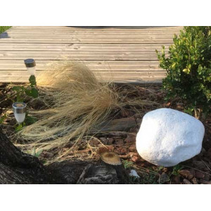 Galet grande taille blanc pur - Mastock