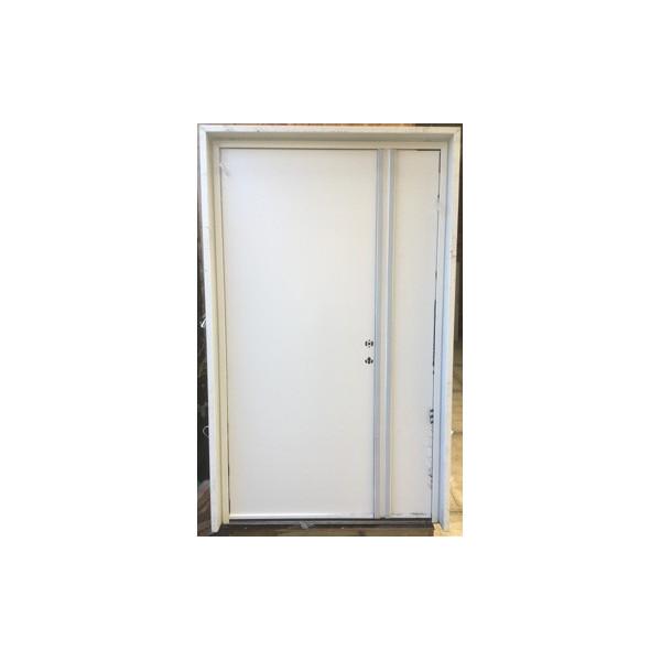 Porte d'entrée tierce aluminium blanc - Mastock Nivillac