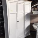 Armoire bois blanc 3 portes - Mastock