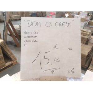 """Carrelage Terrasse 60x60cm """"Dom C3 Cream"""" - Mastock"""