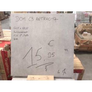 """Carrelage Terrasse 60x60cm """"Dom C3 Antracita"""" - Mastock"""