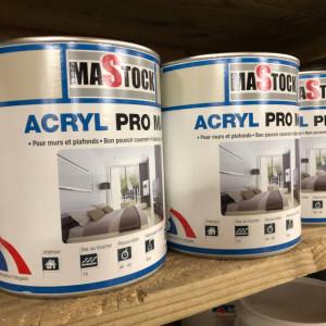 Peinture Acrylique - 2,5 L - Mastock